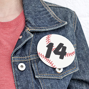 Custom Baseball Button
